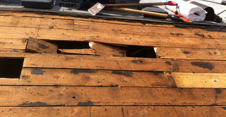 Repairs: Roof deck issues, board on board deck with loss of integrity